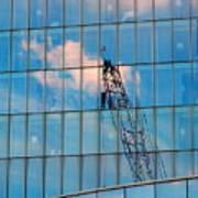 Crane Reflection - Atlantic City Art Print