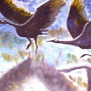 Cranes N Flight Art Print