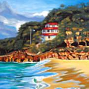 Crash Boat Beach Art Print by Milagros Palmieri