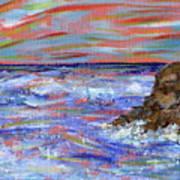 Crashing Of The Waves Art Print