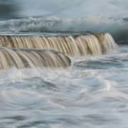 Crashing Sea Waves And Small Waterfalls Art Print