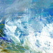 Crashing Waves Against The Shore Art Print