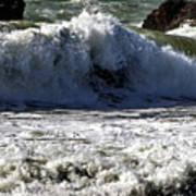 Crashing Waves At Goat Rock Art Print
