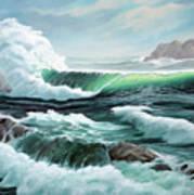Crashing Waves Art Print by Lorraine Foster