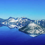 Crater Lake Blue Art Print