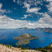 Crater Lake From Watchman Overlook Art Print