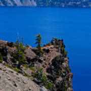 Crater Lake Point Overlook Art Print