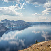 Crater Lake With A View Of The Phantom Ship Art Print