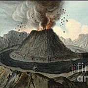 Crater Of Mount Vesuvius, Before 1767 Art Print