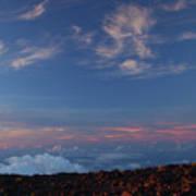 Crater Sunset Art Print