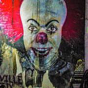 Crazy Clown Art Print