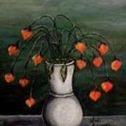 Crazy Red Flowers Art Print