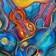 Crazy Strings Art Print