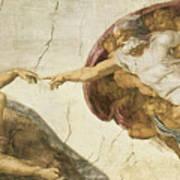Creation Of Adam Art Print by Michelangelo Buonarroti