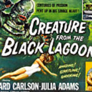 Creature From The Black Lagoon, Upper Art Print by Everett
