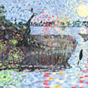Creek Impressions #2 - Nocturne  Art Print