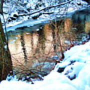 Creek In Bath Ohio Art Print