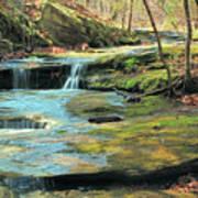 Creek In Dappled Light At Don Robinson State Park 1 Art Print