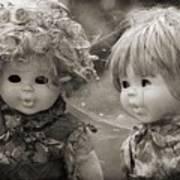 Creepy Dolls Art Print by Ankeeta Bansal