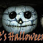 Creepy Halloween Pumpkin Art Print