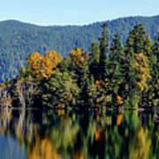 Crescent Lake Fall Colors Art Print