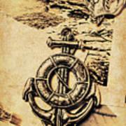 Crest Of Oceanic Adventure Art Print