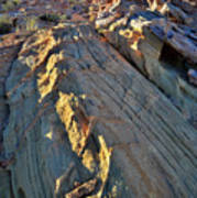 Crest Of Sandstone Wave At Sunset In Valley Of Fire Art Print