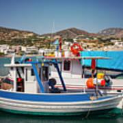 Crete Fishing Boats Art Print