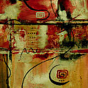 Crimson And Copper Art Print