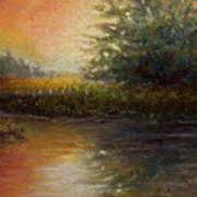 Crimson Sunset Art Print