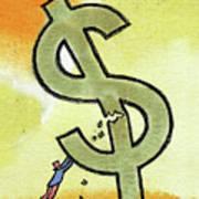 Crisis And Money Art Print