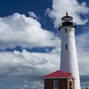 Crisp Point Lighthouse 7 Art Print