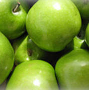 Crispy Green Apples From The Farmers Market Art Print