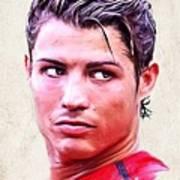 Cristiano Ronaldo Print by Wu Wei