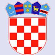 Croatia Coat Of Arms Art Print
