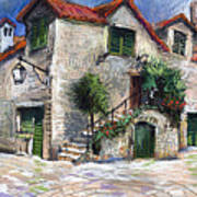 Croatia Dalmacia Square Art Print