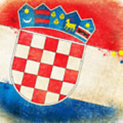 Croatia Flag Art Print