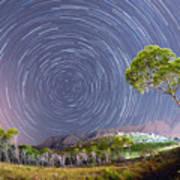 Croatia Star Trails Art Print