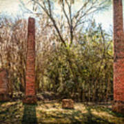 Crocheron Columns Art Print