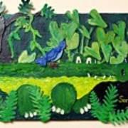 Crocodile Amble Art Print