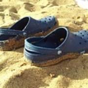 Crocs Shoes On Sandy Point Beach Art Print