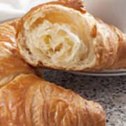 Croissants And Coffee Art Print