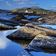 Cromwell Point Lighthouse Valentia Island Art Print