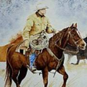 Cropped Ranch Rider Art Print