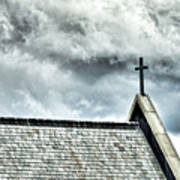 Cross Against An Angry Sky Art Print