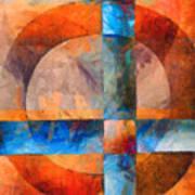 Cross And Circle Abstract Art Print