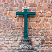 Cross And Cusco Cathedreal Art Print