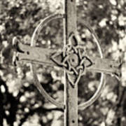 Cross At Dublin Pioneer Cemetery Art Print