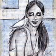 Cross Dove Art Print