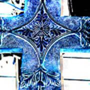 Cross In Blue Art Print